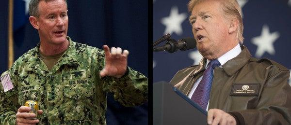 Trump Calls Retired SEAL Adm. McRaven 'Hillary Clinton Fan', Says 'Would've Been Nice' If We Got Bin Laden Sooner