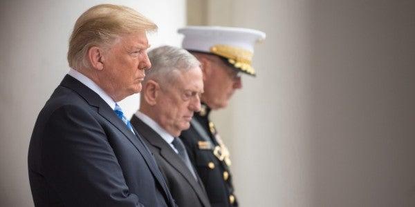 Mattis Says He Has Cautioned Trump Not To Visit War Zones