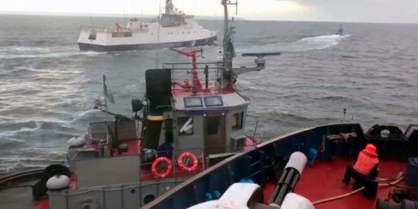 Shocking Video Shows The Exact Moment A Suspected Russian Ship Rams A Ukrainian Boat During A Tense Naval Clash