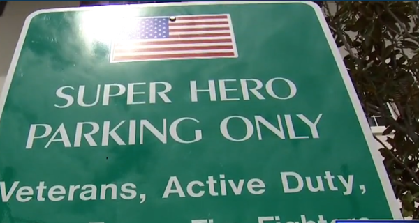 Florida Town Offers 'Super Hero' Parking Spots For Veterans And First Responders