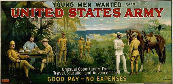 How Recruitment Posters Used Pay, Patriotism, And Sex Appeal To Bolster The Ranks