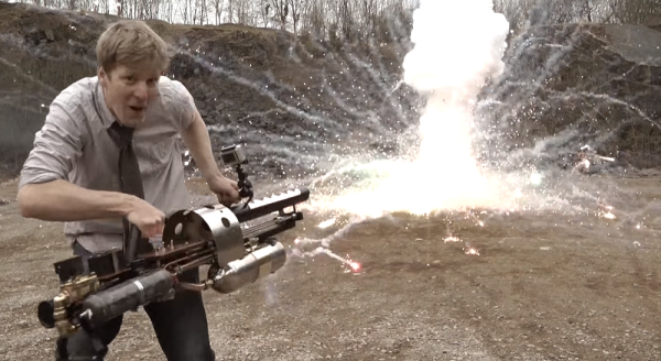 Watch This British Dude Go Crazy With His Homemade Thermite Launcher