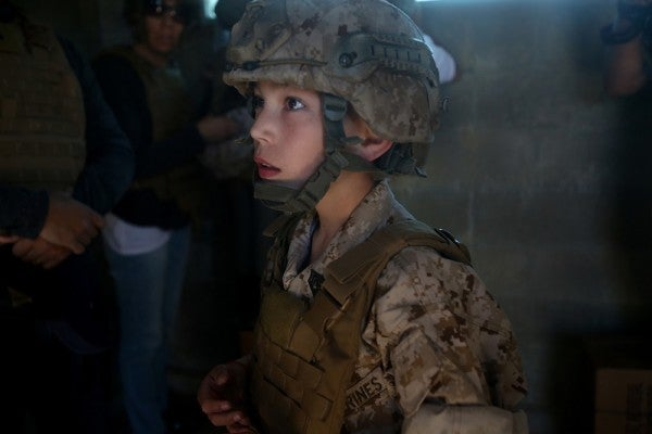 Boy With Heart Condition Gets Wish To Become A Marine