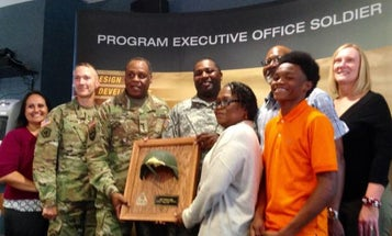 Army Engineer Receives Helmet That Saved His Life In Combat