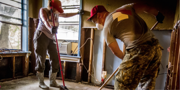 These Badass Veterans Deployed To Houston To Rebuild After The Flood