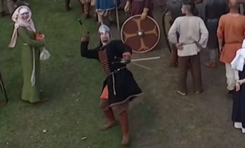 Watch A Spear-Chucking Foot Soldier Take Out A Drone Mid-Flight