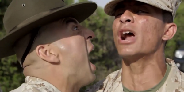 Drill Instructors Terrorize Recruits During Initial Drill Video