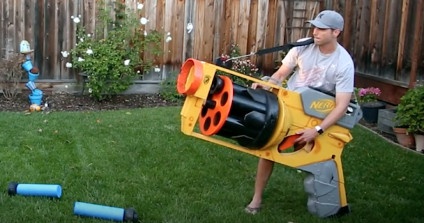 The World's Biggest Nerf Gun Is Definitely Not A Toy