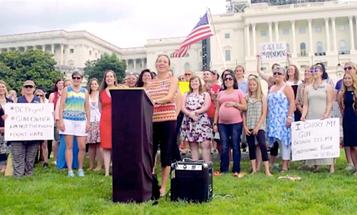 50 Women Stage Unconventional Pro-Gun Demonstration In DC