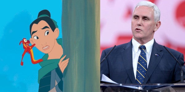 Trump's VP Thinks 'Mischievous Liberal At Disney' Made 'Mulan' To Promote Women In Combat