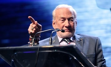 Here's Buzz Aldrin, American Hero, Punching A Conspiracy Theorist In The Face