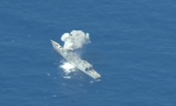 WATCH: Tough Old Warship Takes Bombardment During Sinking Exercise