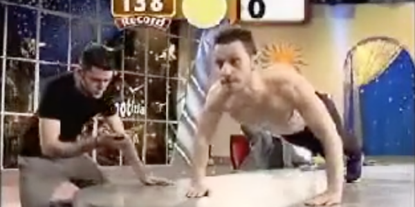 Man Sets 'World Record' For Push-Ups By Doing Really Bad Push-Ups