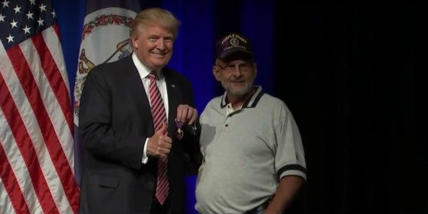 Veteran Gives Trump His Purple Heart Medal