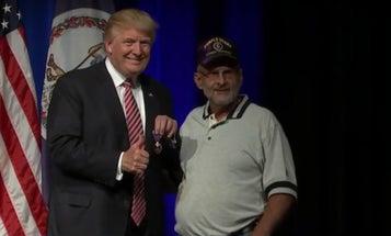 Veteran Gives Trump His Purple Heart Medal