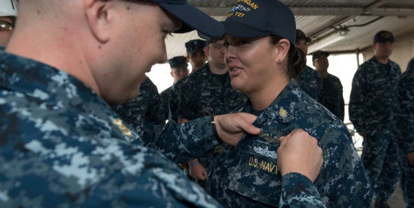 First Female Enlisted Sailor Gets Submarine-Qualified