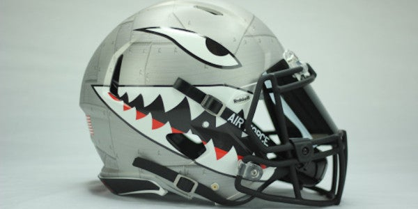 The Air Force Academy's Newly Unveiled Shark-Tooth Helmets Are Amazing
