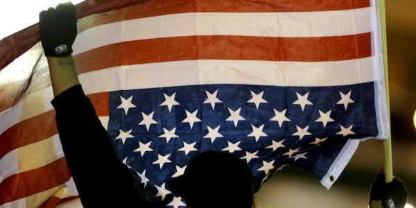 Army Vet Arrested For Hanging US Flag Upside Down. But Did He Commit A Crime?