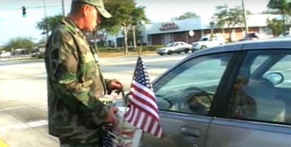 Charity Puts Veterans On The Street To Ask For Money