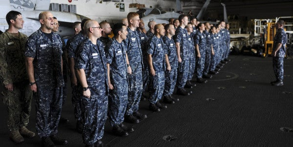 Navy's Plan To Dump Blue Camo Will Cost $180 Million