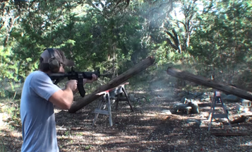 Watch This Guy Blast A Telephone Pole In Half With An AR-15