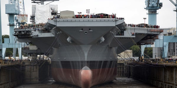 Navy's Most Expensive Aircraft Carrier Ever Might Miss Its Delivery Date — Again