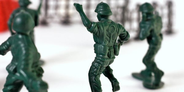 These Little Green Army Men Have Traded In Their Rifles For Yoga Mats