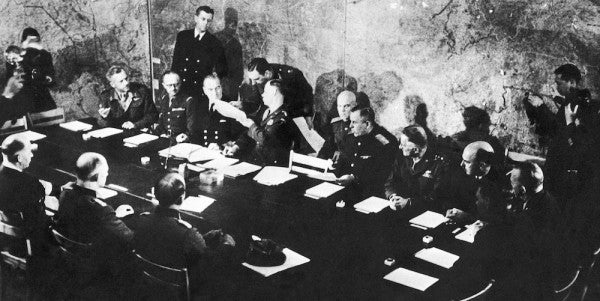 What it was like in the room when Nazi Germany surrendered to end WWII in Europe
