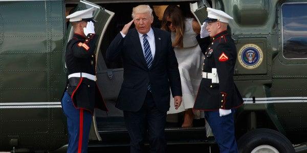 Trump Saluting