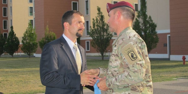 Afghanistan Hero Gives His Medal Of Honor To His Airborne Brigade