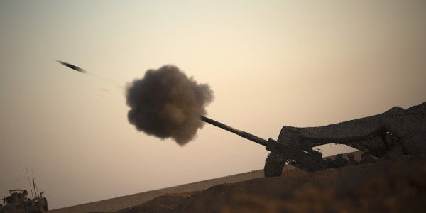 DoD Just Released The First Footage Of Marine Artillery Striking ISIS Targets In Syria