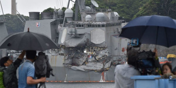 USS Fitzgerald Crash Was Navy's Fault, Preliminary Findings Reportedly Suggest