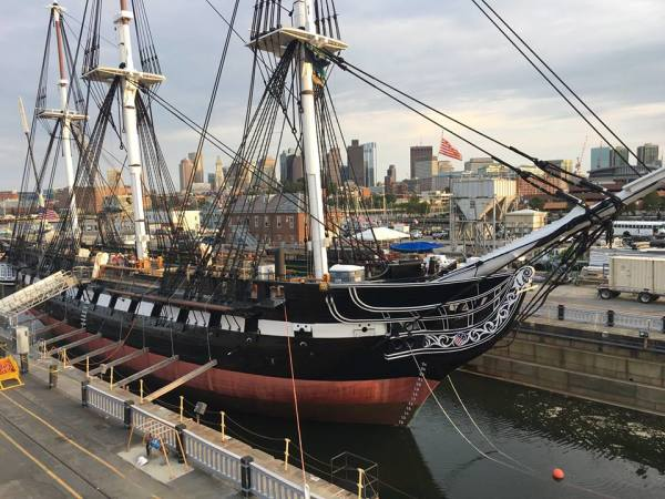 The Newly Restored USS Constitution Returns To The Water