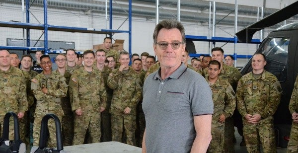Just A Normal Day In The Hangar, Then Bryan Cranston Of 'Breaking Bad' Shows Up