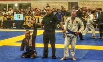 Watch This Triple-Amputee Iraq Vet Win His First Competitive Jiu-Jitsu Match