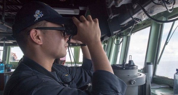 A Sailor Has Apparently Fallen Overboard And Is Missing In The South China Sea