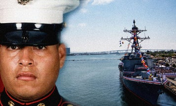 The Story Behind A Fallen Marine And The Warship The Navy Named After Him