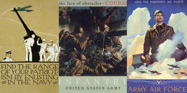13 Striking Vintage Wartime Posters That Appeal To Mercy, Honor, And 'Gold And Glory'