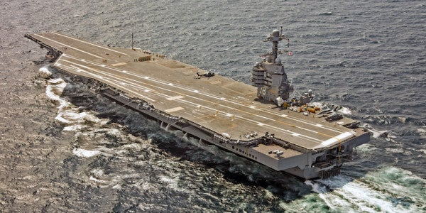 The Navy's Second Ford Class Aircraft Carrier Is Almost 50 Percent Complete