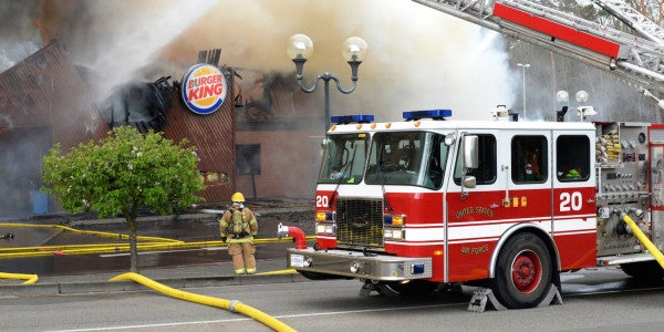 Employee Using Blow Torch To Kill Weeds Started Ramstein Burger King Fire
