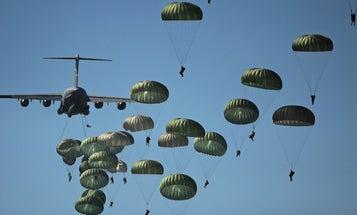 See what it's like to jump out of a C-17 with the Army's 82nd Airborne
