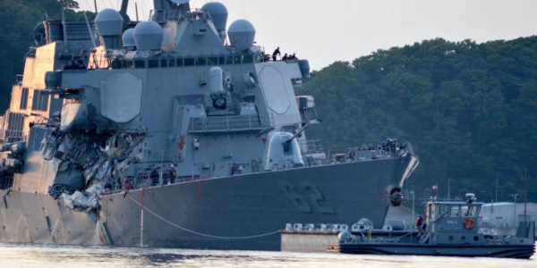 USS Fitzgerald Will Be Transported Stateside For Repairs This Fall