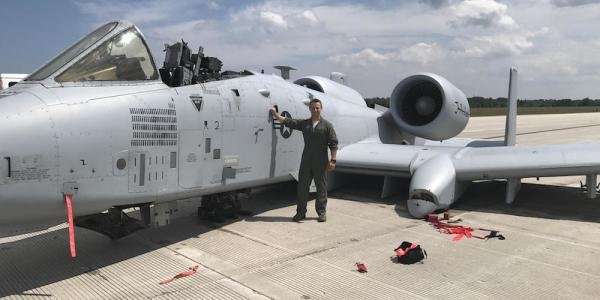 Capt. Brett DeVries and A-10 Thunderbolt II