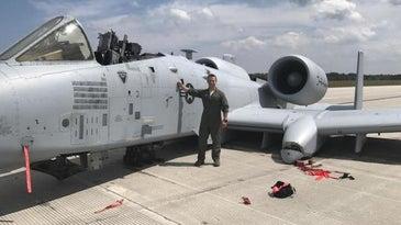 Capt. Brett DeVries and A-10 Thunderbolt II