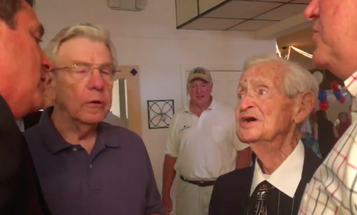 World War II Veteran With Terminal Cancer Sings At His Own Wake