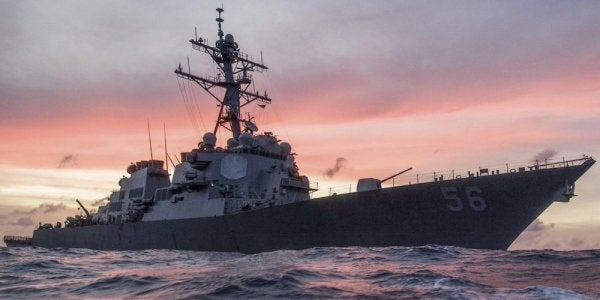 10 Missing, 5 Injured After Navy Destroyer Collides With Oil And Chemical Tanker Near Singapore