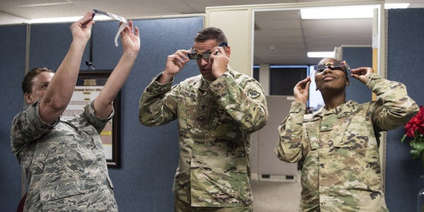 How To View The Eclipse If You're In The Army And Don't Want To Burn Out Your Eyeballs