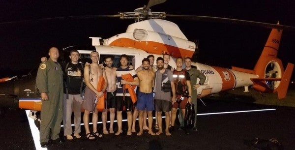 Coasties Called In To Rescue A Bunch Of Bachelor Party Bros Stranded On A Sandbar
