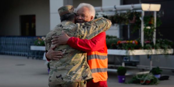 Air Force Boss Reunites With Commissary Bagger, The Man Who First Taught Him About Leadership