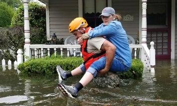 Photos: Guardsmen, Coasties Brave Hurricane Harvey As Streets Become Violent Waterways